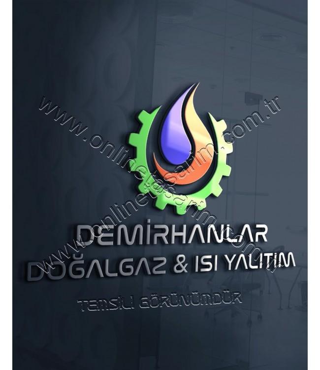 Hazır Logo Tasarım Örnekleri - Doğalgaz, Mühendislik Logo Tasarım