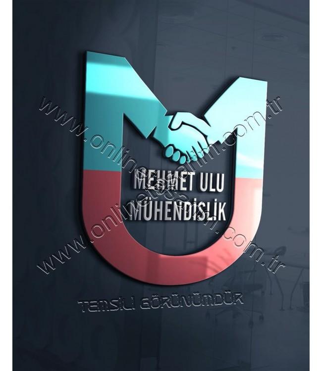 Holding, Mühendislik Firması Logo Örnek - El Sıkışma, M ve U Harfi ile Başlayan (475 TL) Online Tasarım Matbaa