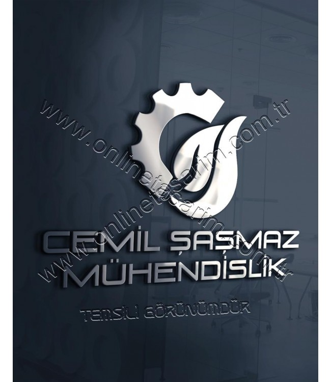 Ateş Sembollü Mühendislik firması şirketi logo örnek tasarım çalışması