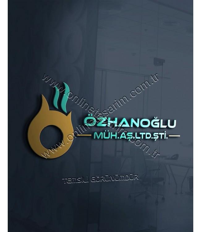Mühendislik, Doğalgaz Firması Logo Örneği - Estetik, Şeklinde N Harfi NUDO Logo (280 TL) Online Tasarım Matbaa