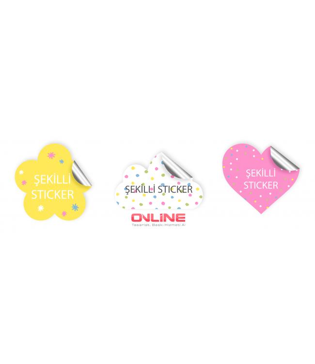 Yapışkanlı Çıkartma Sticker Etiket Online Tasarım Matbaa
