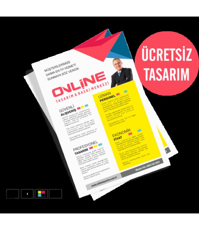 Ekonomik Çift Yön Online Tasarım Matbaa