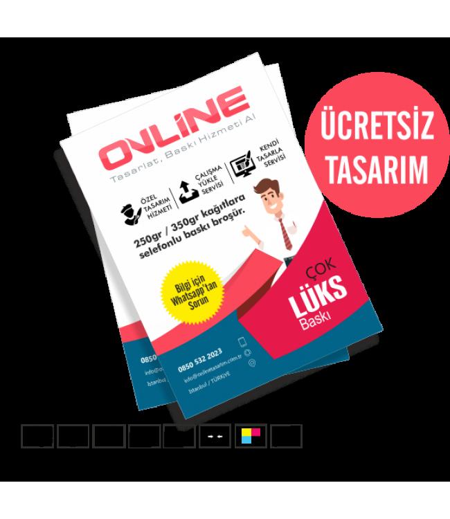 Lüks Broşürler Online Tasarım Matbaa