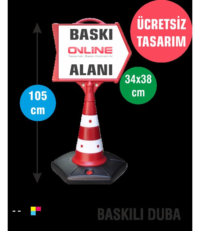 Dijital Baskılı Ok Reklam Dubası