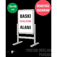 Yer Tipi Poster Reklam Tabelası 70x100 cm