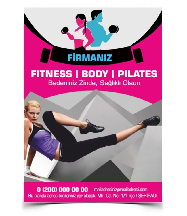 Fitness Broşür Kalite Baskı Online Matbaa