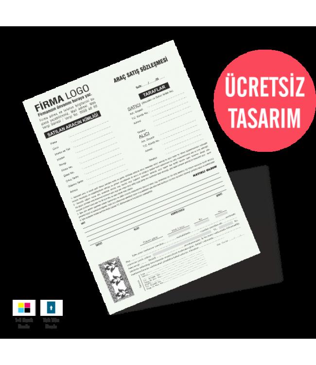 Araç Satış Sözleşmesi Form Kalite Baskı Online Matbaa
