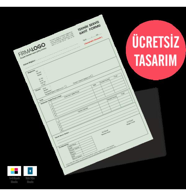 Teknik Servis Kayıt Formu Kalite Baskı Online Matbaa