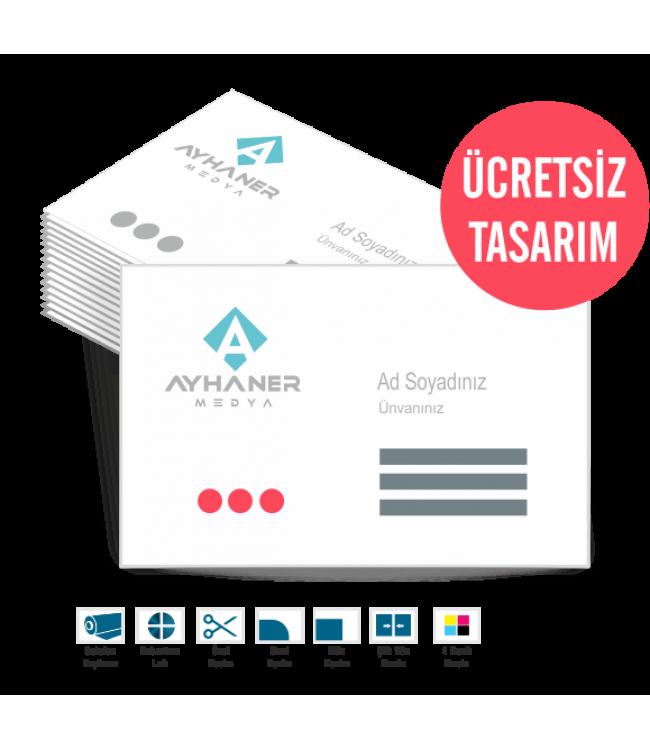 Kabartma Lak Çiftyön Kartvizit 350gr Online Tasarım Matbaa
