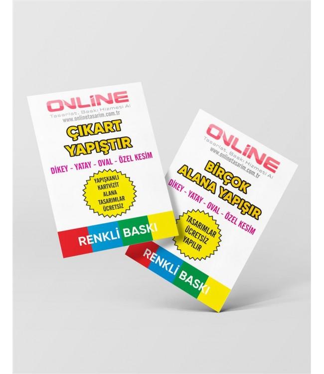Yapışkanlı Reklam Kağıdı (Küçük) - Etiket Kartvizit Baskı