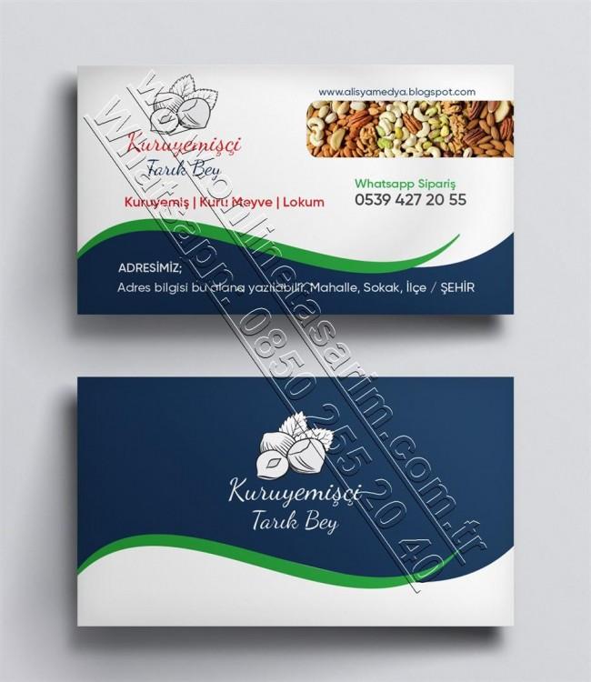 Baharat, aktar, kuruyemiş, bitkisel otlar kartvizit örnekleri