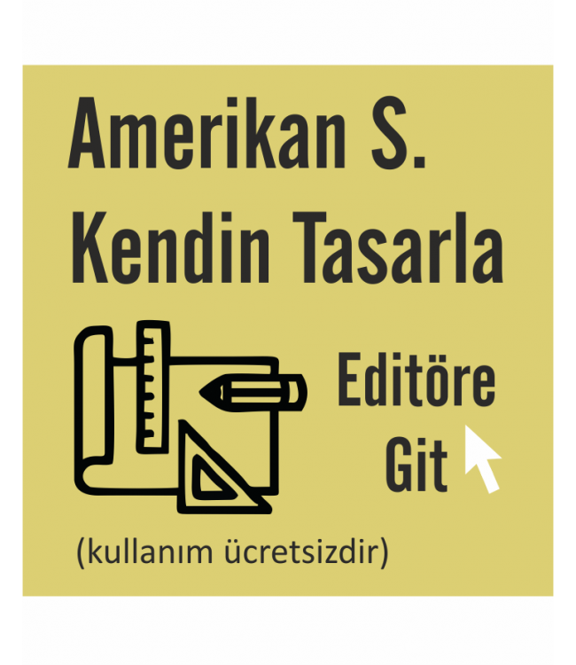 Amerikan Servis Kendin Tasarla Online Tasarım Matbaa