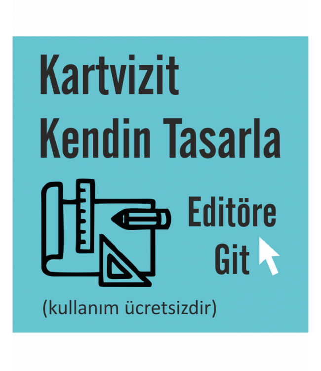 Online Tasarım Kendin Tasarla Editörü Boş Kartvizit Tasarım Şablonu
