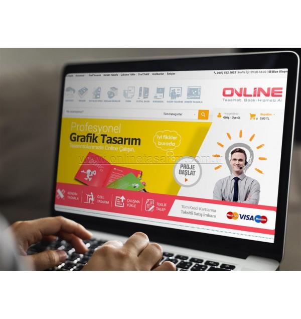 E-Ticaret Online Alışveriş Websitesi Yaptır Online Tasarım Matbaa
